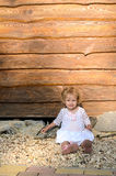 Little blond girl Stock Photography