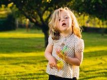 Little blond girl Stock Image