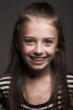 Little blond girl stock photo
