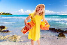 Little blond girl Royalty Free Stock Photos