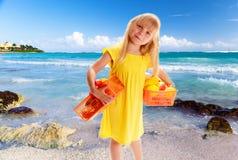 Little blond girl Royalty Free Stock Photos