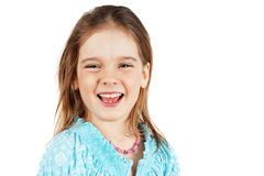 Little blond girl laughing Royalty Free Stock Photography