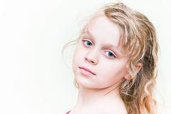 Little blond girl portrait Stock Photos