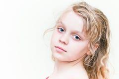 Little blond girl portrait Stock Photos