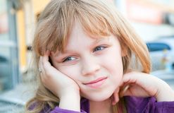 Little blond girl portrait Royalty Free Stock Image