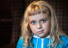 Little blond girl portrait Stock Photo