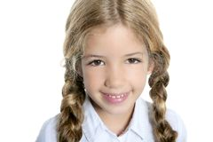 Little blond girl  smiling Royalty Free Stock Photography