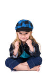 Little Blond Sitting Royalty Free Stock Photo