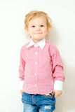 Little blonde boy smiling Royalty Free Stock Photography