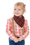Little blonde in a cowboy suit Stock Photography