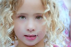 Little blonde girl Royalty Free Stock Photography
