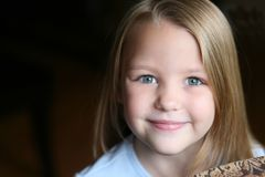 Little blonde girl Royalty Free Stock Photos