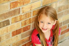 Little blonde girl Royalty Free Stock Photo