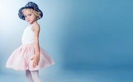 Little blonde girl posing Royalty Free Stock Photo