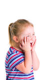 Little blonde girl screaming Stock Image