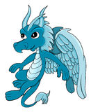 Little blue dragon cartoon Royalty Free Stock Images