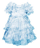 A little blue dress for girls Stock Image