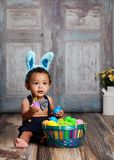 Little Blue Easter Bunny Royalty Free Stock Photo