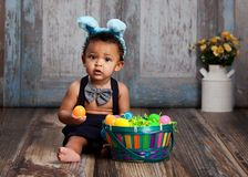 Little Blue Easter Bunny Royalty Free Stock Photography