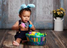 Little Blue Easter Bunny Royalty Free Stock Photos