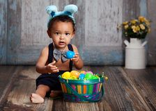 Little Blue Easter Bunny Royalty Free Stock Images