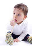 Little blue eyed caucasian boy Royalty Free Stock Images