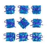 Little blue gifts Royalty Free Stock Photos