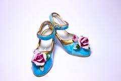 Little blue shoes Stock Photos