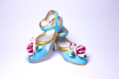 Little blue shoes Stock Images