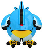 Little Blue Social Network Marketing Bird Robot Stock Images