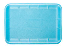 Little blue tray for food Royalty Free Stock Images
