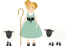 Little Bo Peep Royalty Free Stock Images