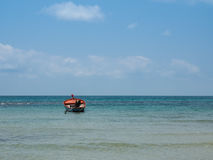 Little boat in the sea at Koh Kood island Stock Photos