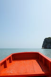 Boat. Little boat travel with blue sky and sea royalty free stock images
