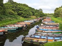 Little Boats Stock Images