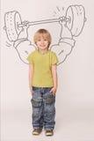 Little bodybuilder Stock Photography