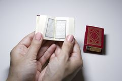 Little book Quran stock image