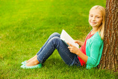 Little bookworm. Royalty Free Stock Photography