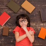 Little bookworm. Stock Photos