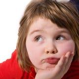 Little bored girl Stock Photo