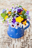 Little bouquet of spring flowers Royalty Free Stock Images