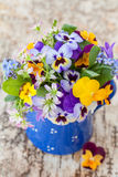 Little bouquet of spring flowers Royalty Free Stock Photography
