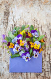 Little bouquet of spring flowers Stock Images