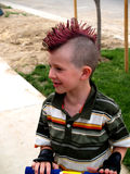 Little boy. Cool hair Royalty Free Stock Photography