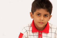 A little boy. Young School Boy feeling Sad stock image