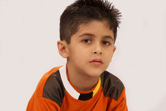 A little boy. Young School Boy feeling Sad stock photography