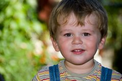 Little boy. Looking in the camera Stock Images