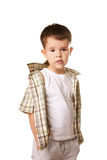 Little boy. Portrait of cute little boy isolated on white background Stock Photo