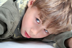 Little Boy. Portrait of a blond boy royalty free stock photo