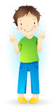Little boy. Little funny standing amusing boy Royalty Free Stock Images